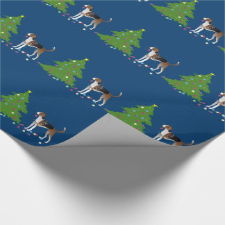 American Foxhound Christmas Design Wrapping Paper
