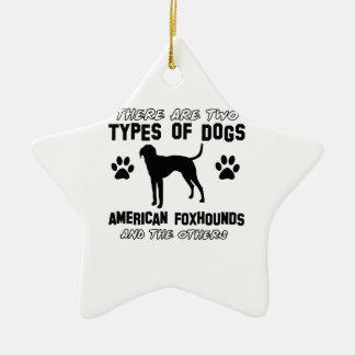 American Foxhound dog designs Christmas Tree Ornament