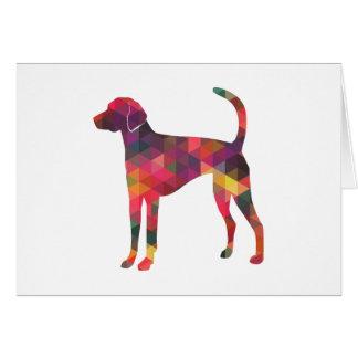 American Foxhound Geo Pattern Silhouette - Multi Card