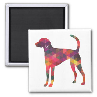 American Foxhound Geo Pattern Silhouette - Multi Magnet