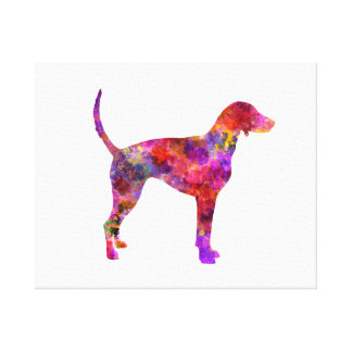American Foxhound in watercolor 2 Canvas Print