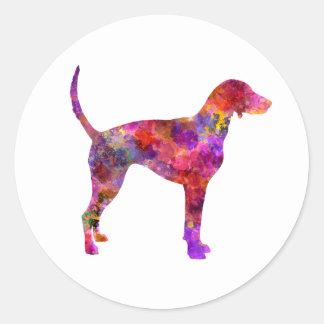 American Foxhound in watercolor 2 Classic Round Sticker