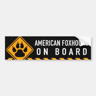 American Foxhound On Board Bumper Sticker