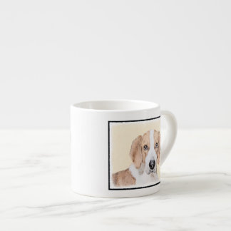 American Foxhound Painting - Cute Original Dog Art Espresso Cup