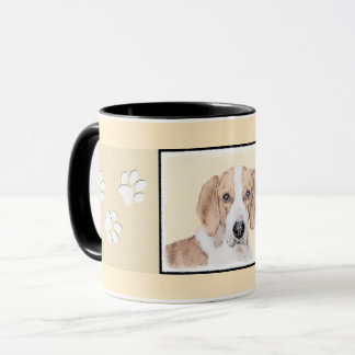 American Foxhound Painting - Cute Original Dog Art Mug