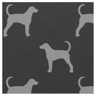 American Foxhound Silhouettes Pattern Fabric
