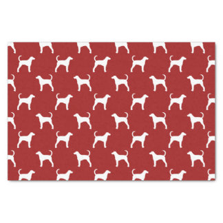 American Foxhound Silhouettes Pattern Tissue Paper