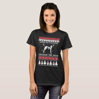 American Foxhound Through The Snow T-shirt