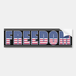 American Freedom Bumper Sticker