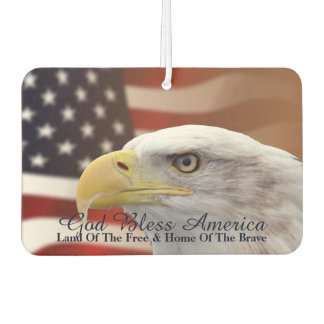 "American Freedom Symbols Air Freshner"" Car Air Freshener"