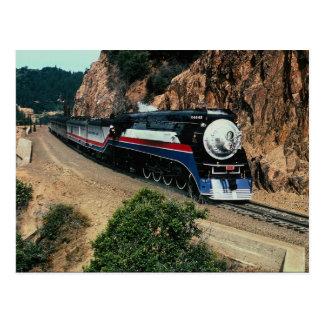 American Freedom Train 4449 at Cape Horn, Californ Postcard