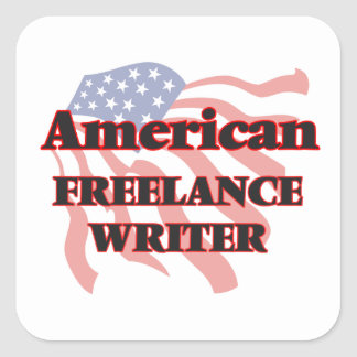 American Freelance Writer Square Sticker