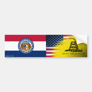 American, Gadsden & Missouri Flag Bumper Sticker