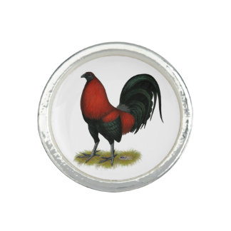 American Game BB Black Red Rooster