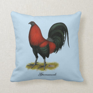 American Game BB Black Red Rooster Cushion