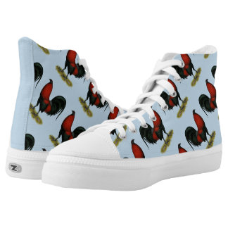 American Game BB Black Red Rooster High Tops