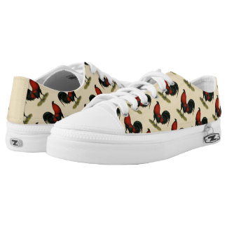 American Game BB Black Red Rooster Low Tops