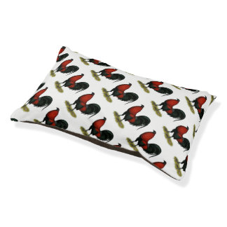 American Game BB Black Red Rooster Pet Bed