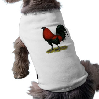 American Game BB Black Red Rooster Shirt