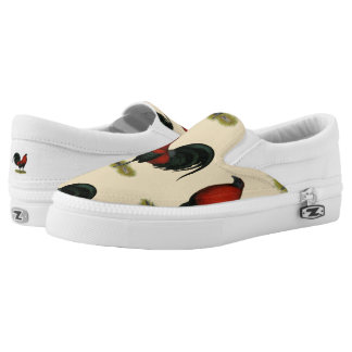 American Game BB Black Red Rooster Slip On Shoes
