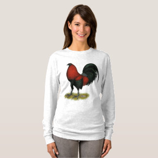 American Game BB Black Red Rooster T-Shirt
