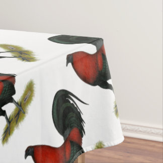 American Game BB Black Red Rooster Tablecloth