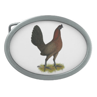 American Game Black Red Hen Belt Buckles