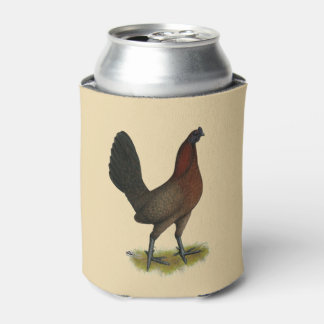 American Game Black Red Hen Can Cooler
