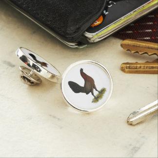 American Game Black Red Hen Lapel Pin