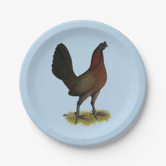 American Game Black Red Hen Paper Plate