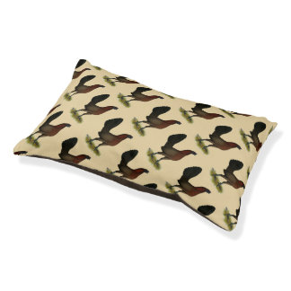 American Game Black Red Hen Pet Bed