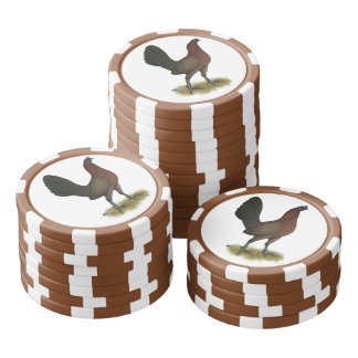 American Game Black Red Hen Poker Chips