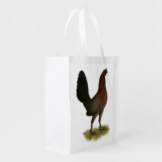 American Game Black Red Hen Reusable Grocery Bag