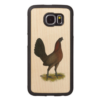 American Game Black Red Hen Wood Phone Case