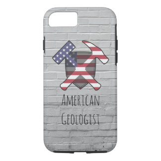 American Geologist Rock Hammer Shield iPhone 8/7 Case