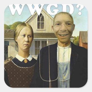 American Gerb Square Sticker