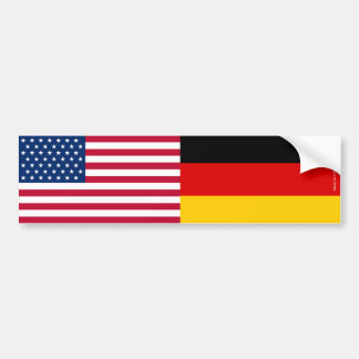 American & German Flags Bumper Sticker