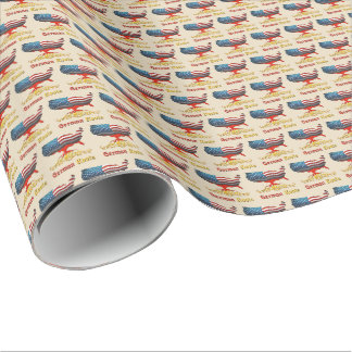 American German Roots Gift Wrap