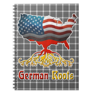 American German Roots Notepad Notebooks