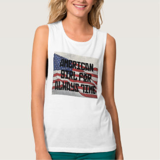 American Girl For Always Time Flowy Muscle Tank Top