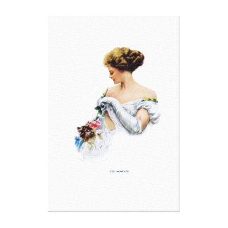 American Girl - Odd Moments by Harrison Fisher Canvas Print