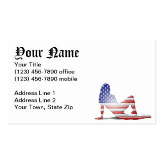 American Girl Silhouette Flag Double-Sided Standard Business Cards (Pack Of 100)