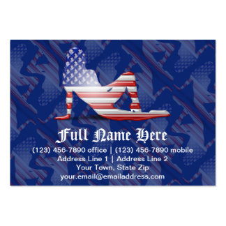 American Girl Silhouette Flag Pack Of Chubby Business Cards