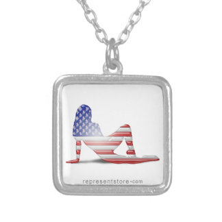 American Girl Silhouette Flag Necklaces
