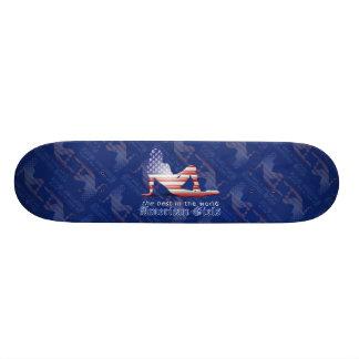 American Girl Silhouette Flag Skate Board Decks
