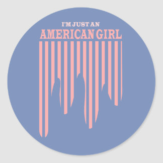 American Girl Stars and Stripes Sticker