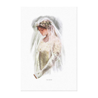 American Girl - The Bride by Harrison Fisher Gallery Wrapped Canvas