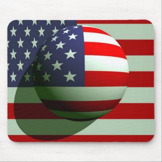 American Globe Flag Mouse Pad