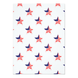 "American Glory Star Pattern 5.5"" X 7.5"" Invitation Card"