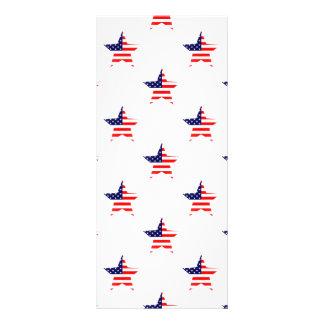 American Glory Star Pattern Custom Rack Card